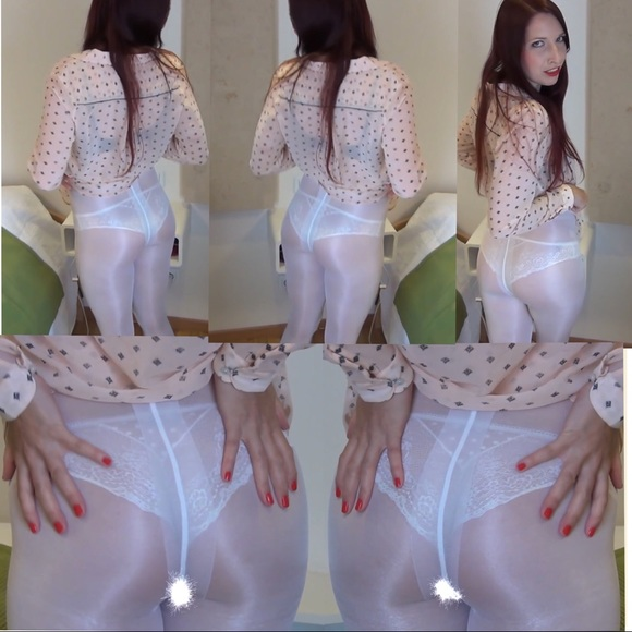 Accessories - Milk White Color Shiny Pantyhose (crotchles)